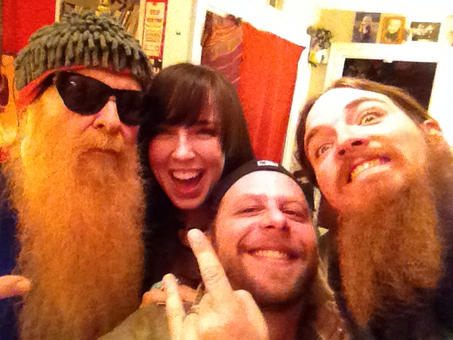 Billy Gibbons, Becca, Big E and Tim Montana